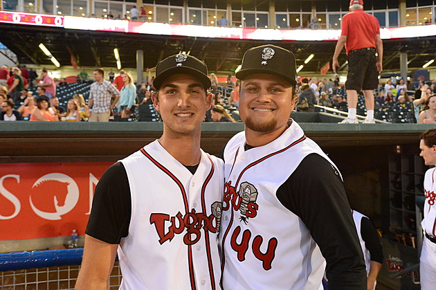 Chase De Jong (left) and Rowdy Tellez (right)